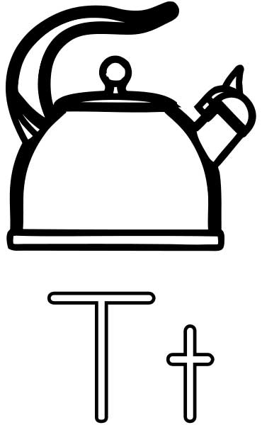 free dot marker coloring pages - teakettle