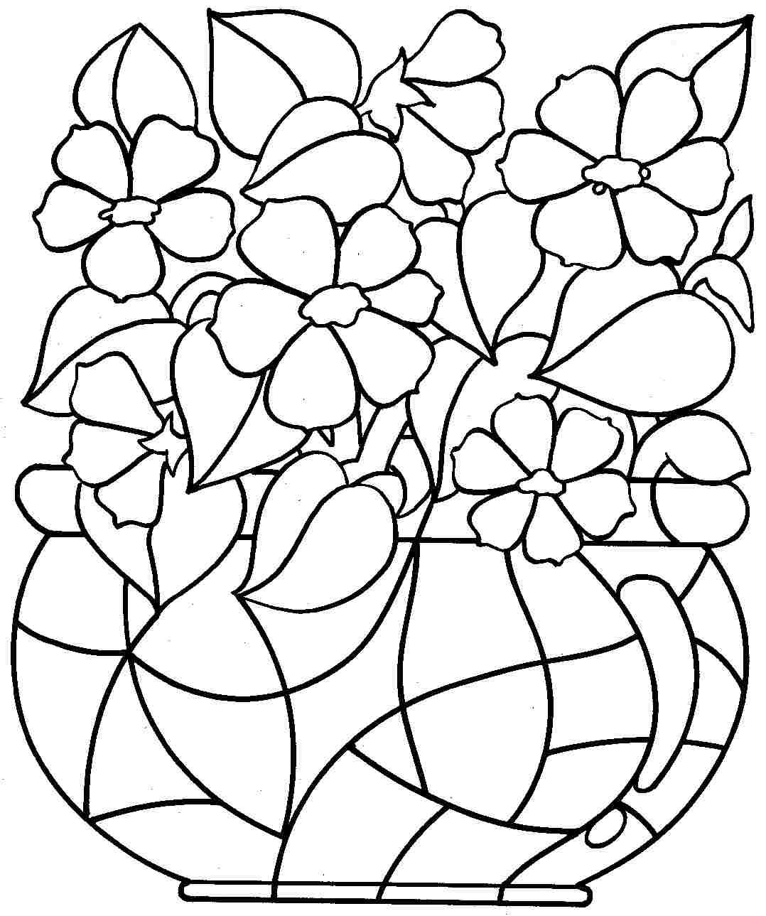 Free Downloadable Coloring Pages - Free Printable Coloring Pages Flowers for Kids