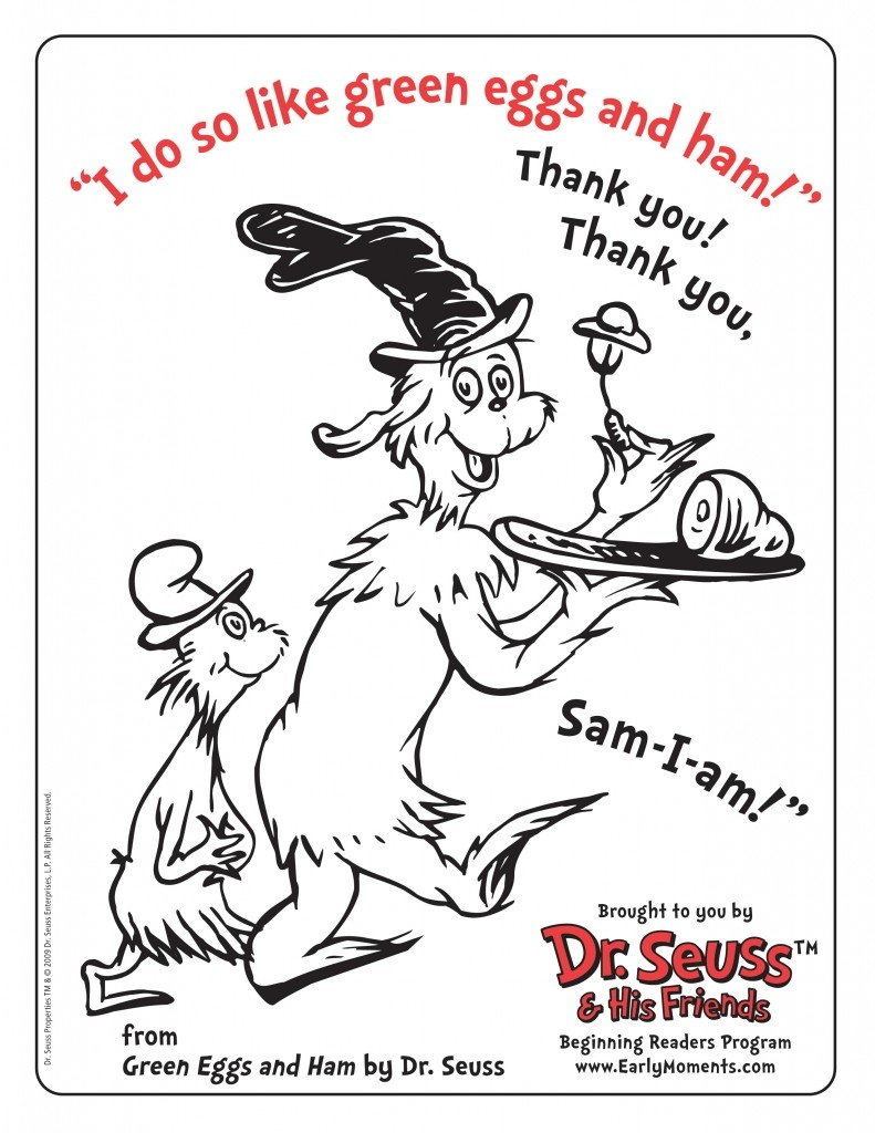 free dr seuss coloring pages - free dr seuss printable coloring activity sheets