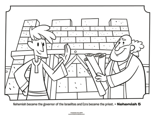 free easter coloring pages - ezra and nehemiah