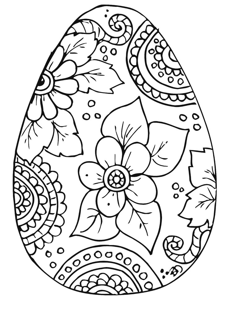 free easter egg coloring pages - free printable easter egg coloring pages
