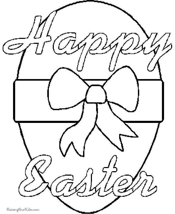 free easter egg coloring pages - 003 happy easter egg