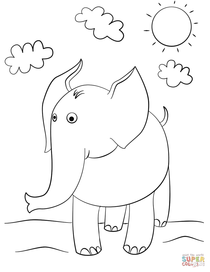 free elephant coloring pages - elephant coloring pages