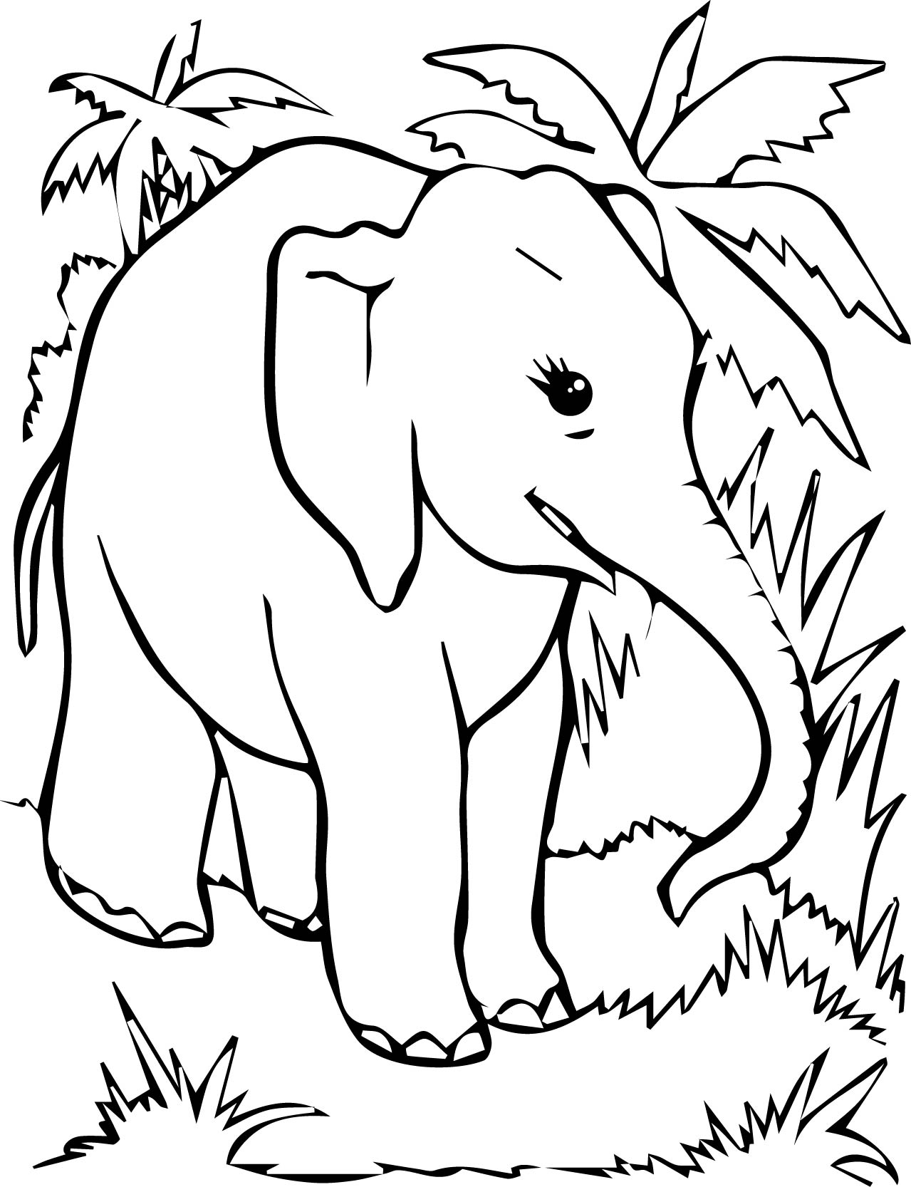 free elephant coloring pages - free coloring page elephant