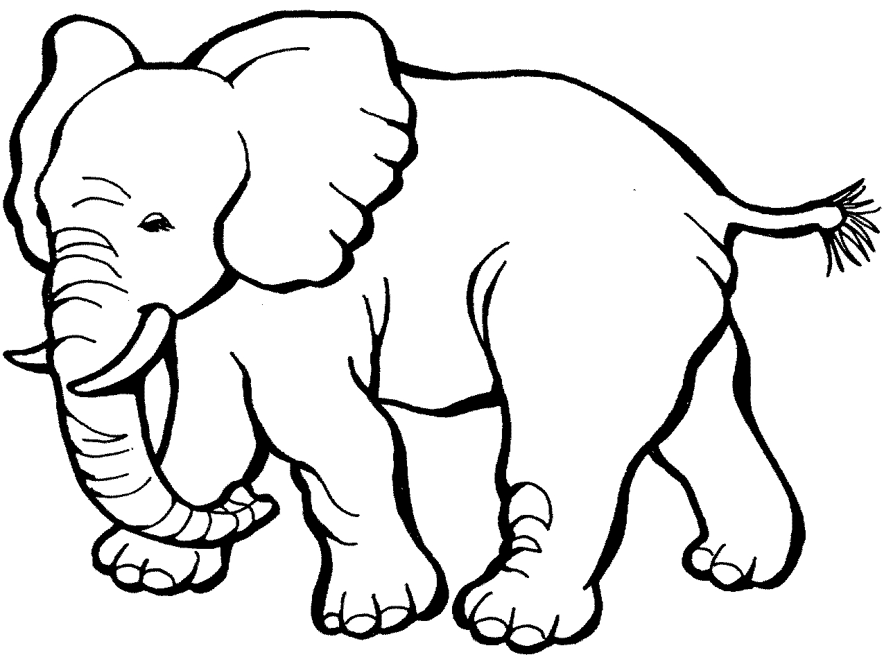 Free Elephant Coloring Pages - Free Printable Elephant Coloring Pages for Kids