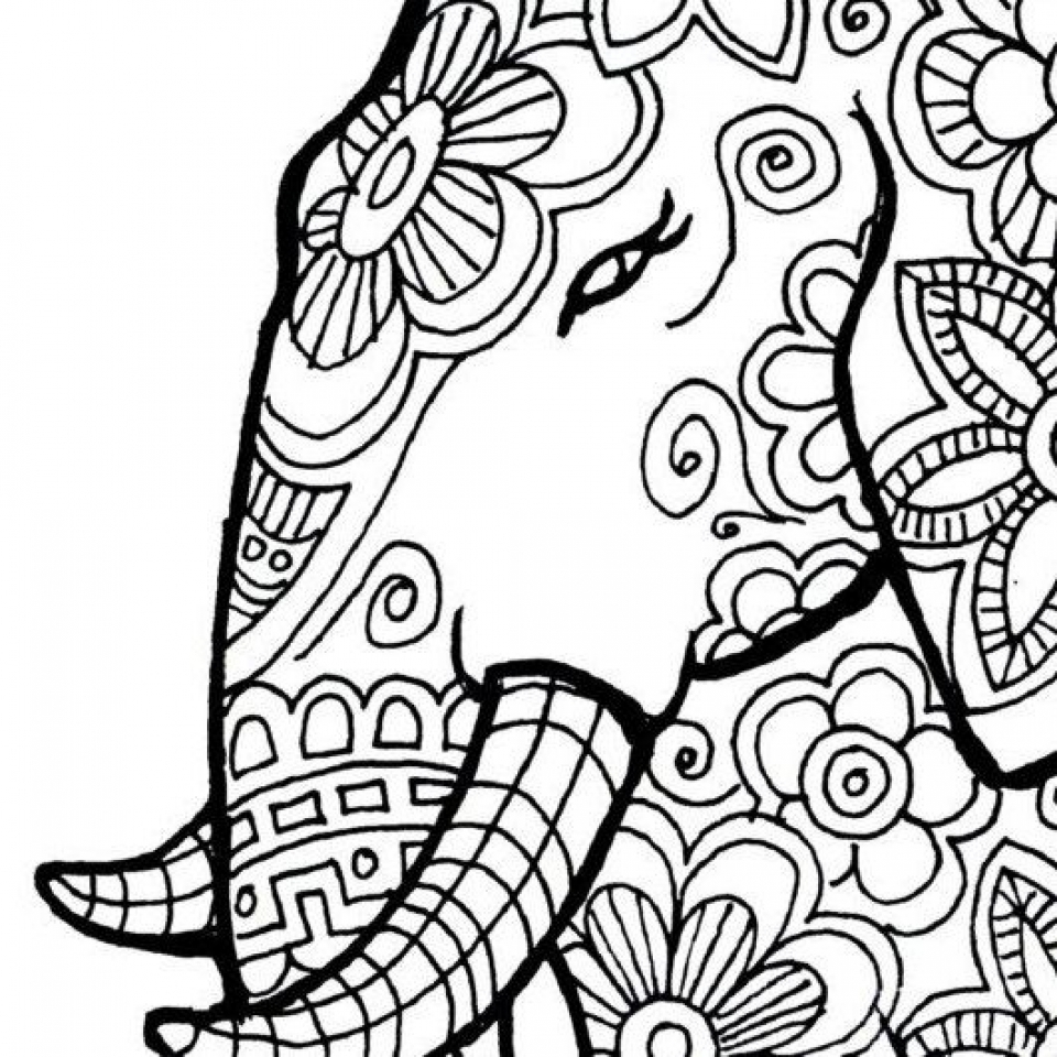 Lovely Henna Elephant Coloring Pages Images - Entry Level Resume ...