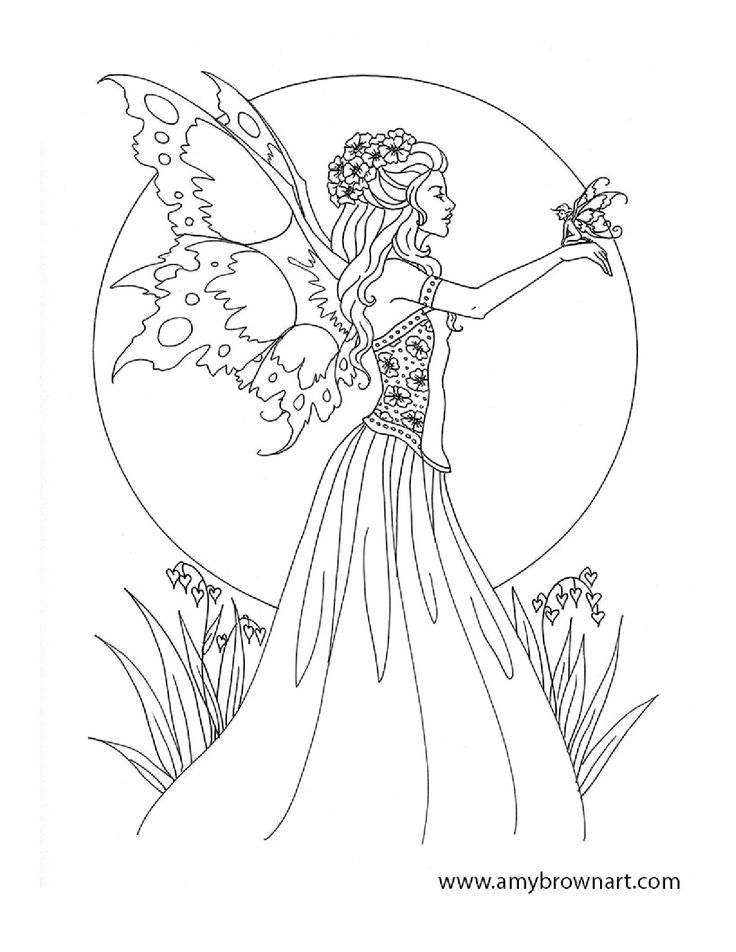 free fairy coloring pages - coloring pages fairies