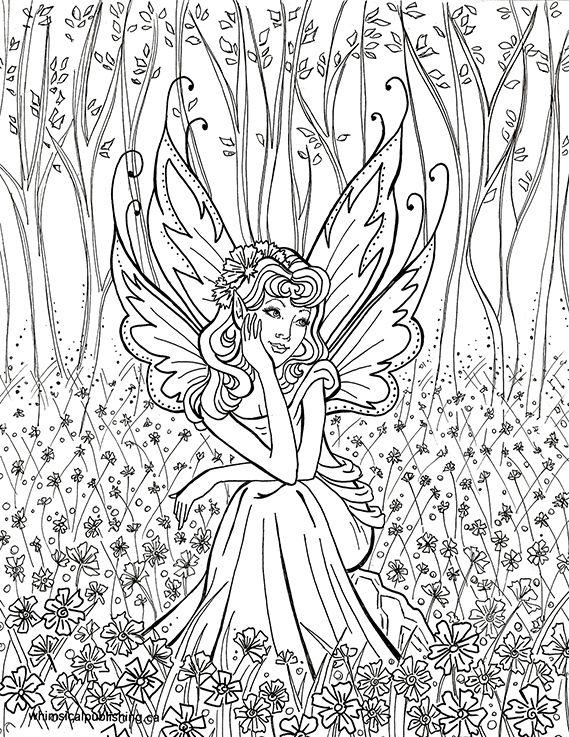 Free Fairy Coloring Pages - 25 Best Ideas About Free Adult Coloring Pages On