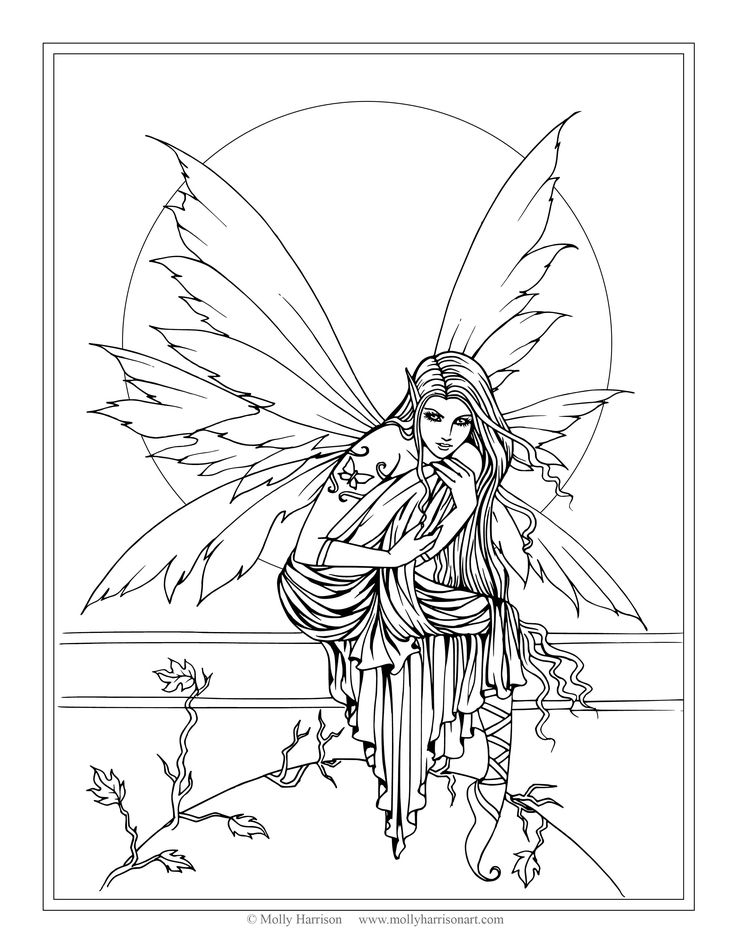free fairy coloring pages - molly harrison free coloring pages direct from the