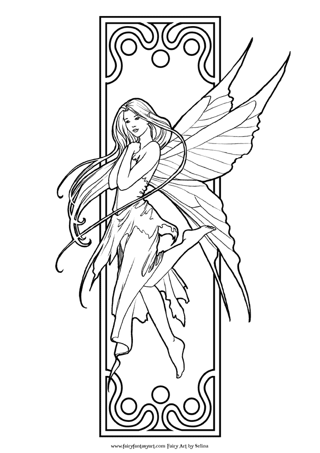 free fairy coloring pages - fairy colouring book pages