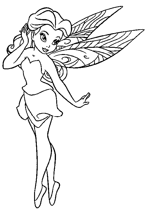 free fairy coloring pages - fairy coloring pages