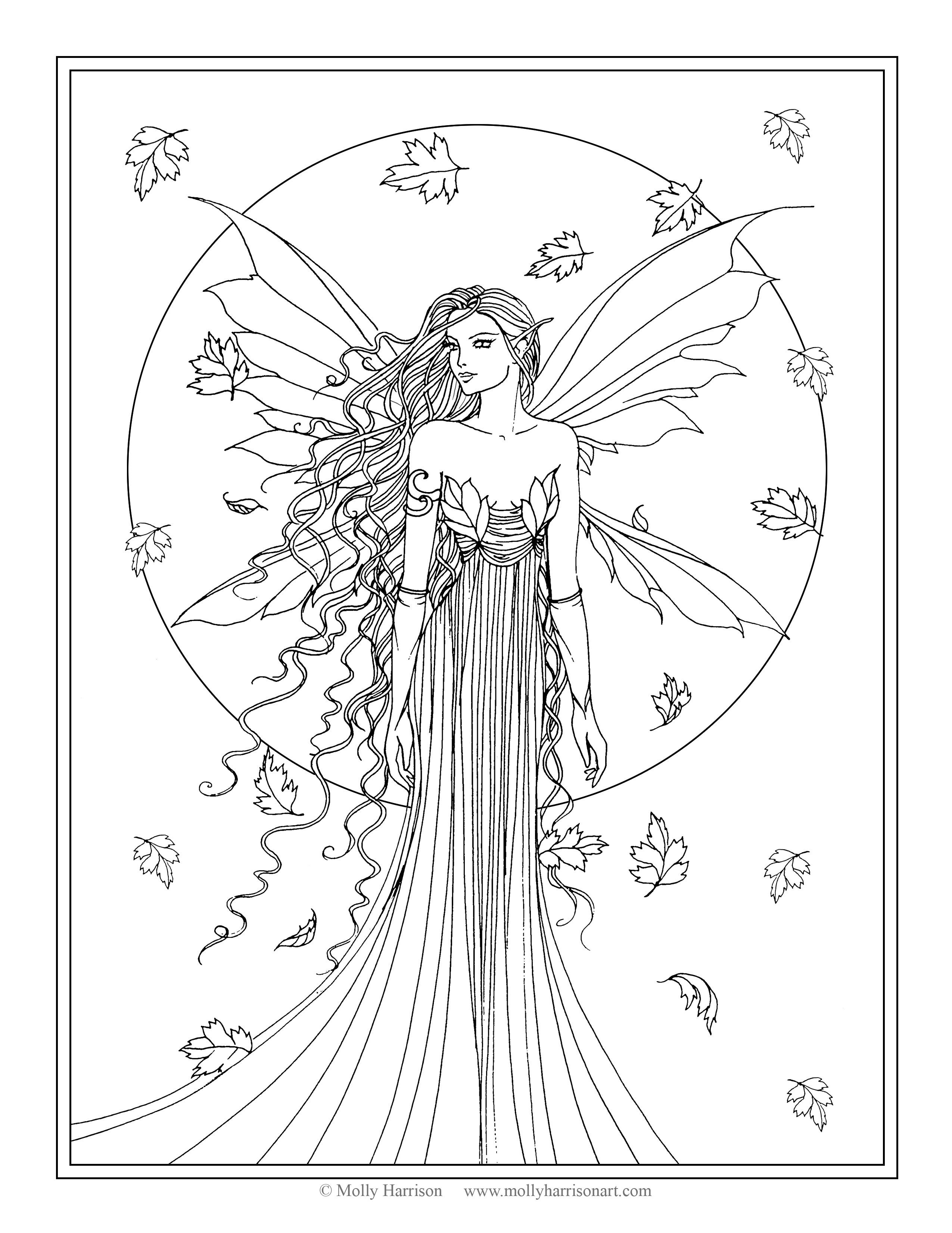 free fairy coloring pages -