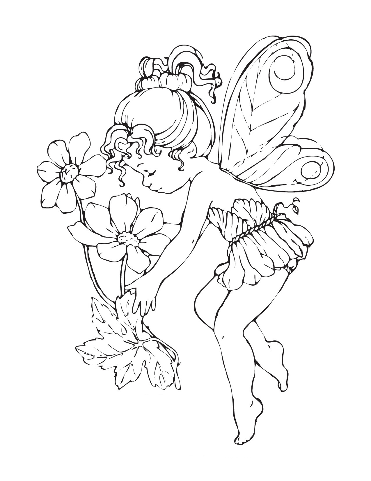 free fairy coloring pages - q=adult gothic fairy