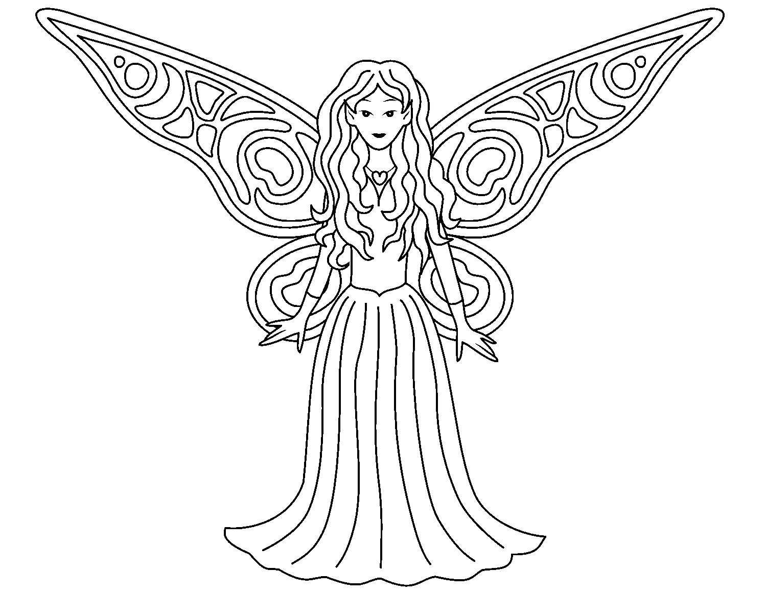 free fairy coloring pages - free coloring media