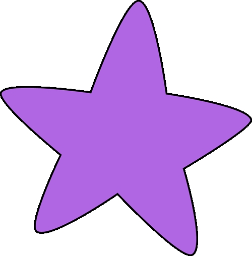 free fall coloring pages - rounded purple star