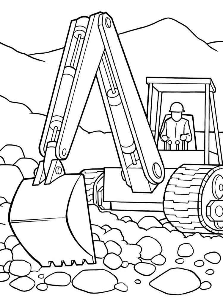 free fish coloring pages - construction vehicles coloring pages