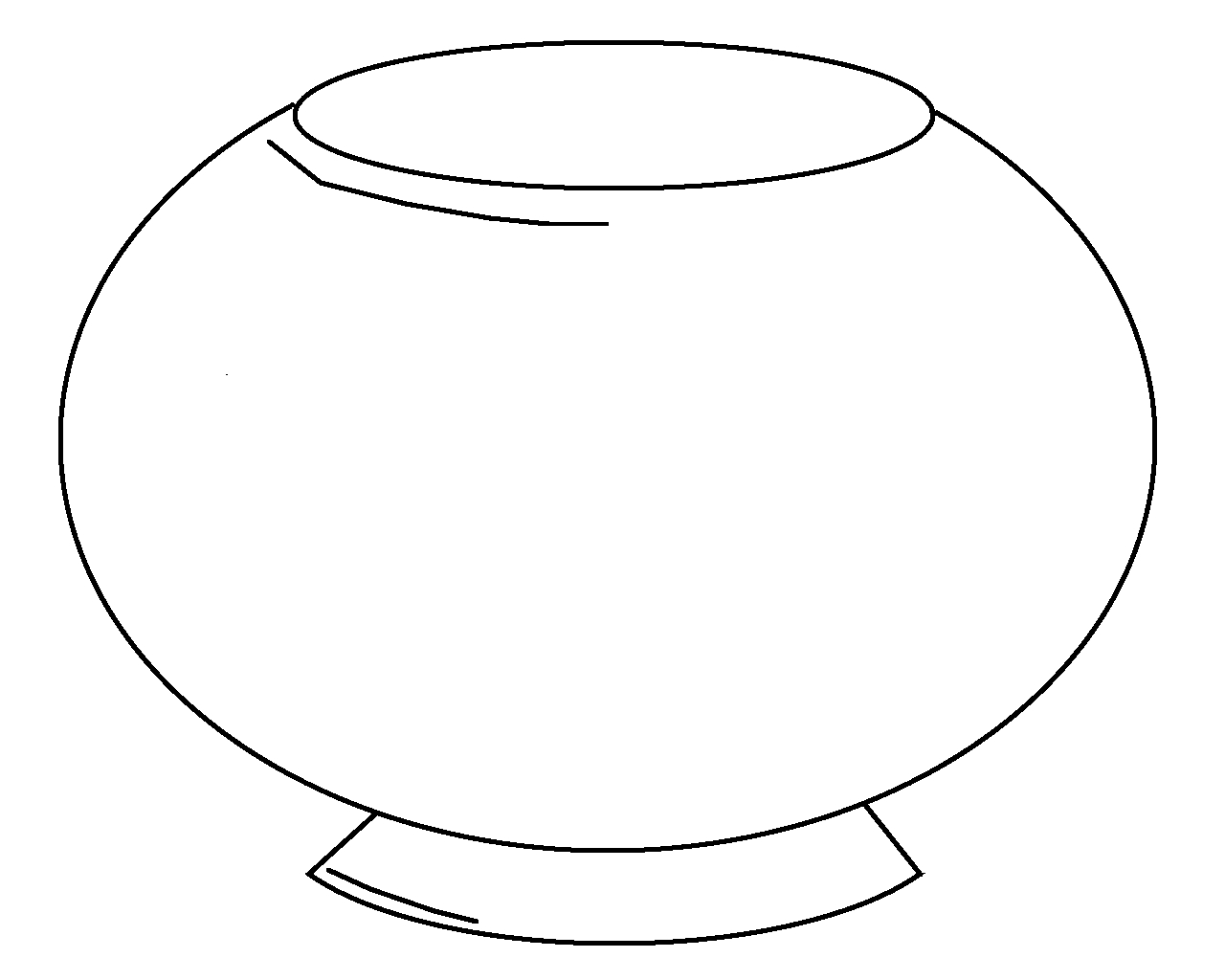 free fish coloring pages - fish bowl coloring sheet