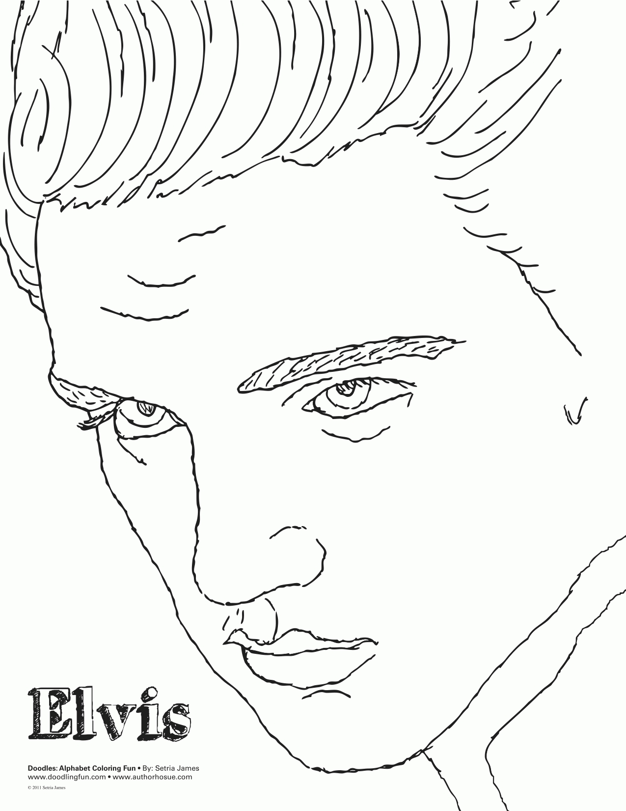 free fish coloring pages - free elvis coloring pages