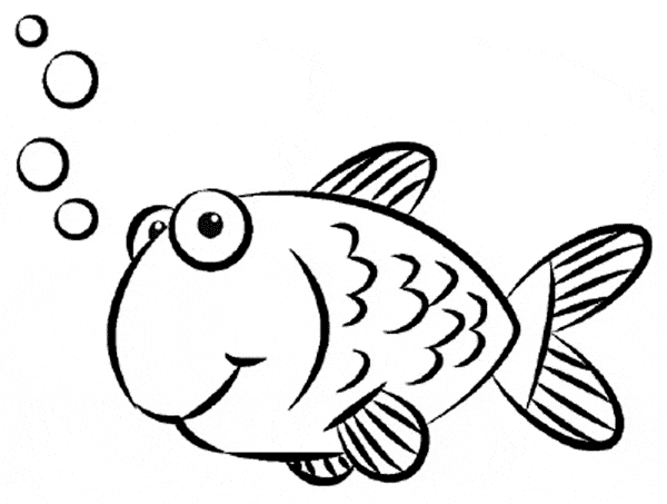 free fish coloring pages - gold fish coloring 05