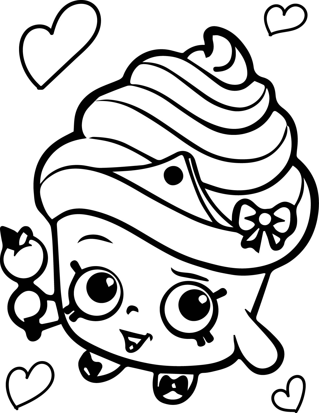 free flower coloring pages - shopkins flower coloring pages free 10 3