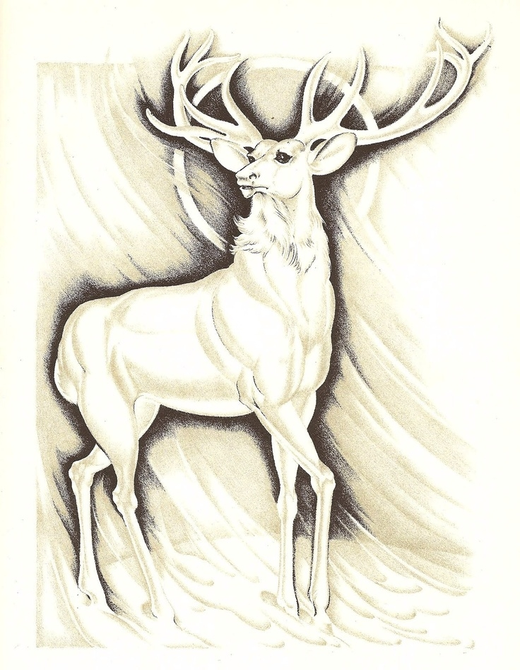 Free Harry Potter Coloring Pages - White Stag Tattoo