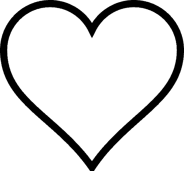 free heart coloring pages - q=shape heart