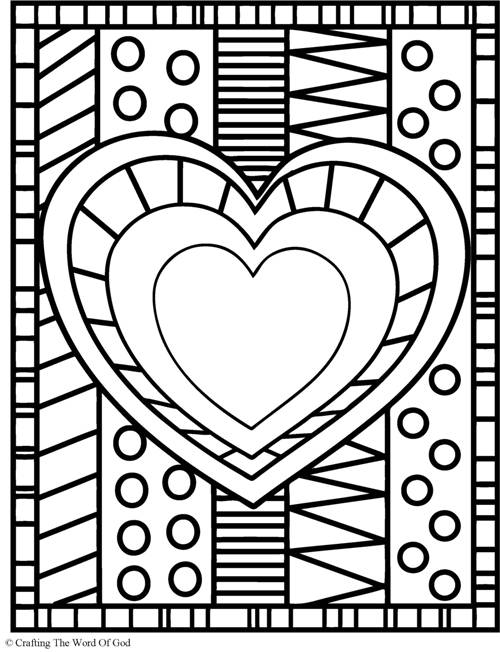 free heart coloring pages - heart coloring page