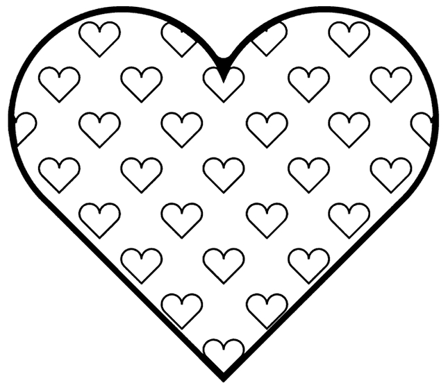 free heart coloring pages - valentine hearts coloring pages free