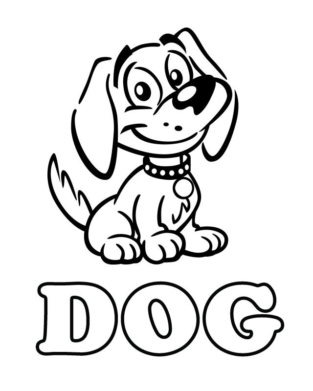 free holiday coloring pages - dog 1
