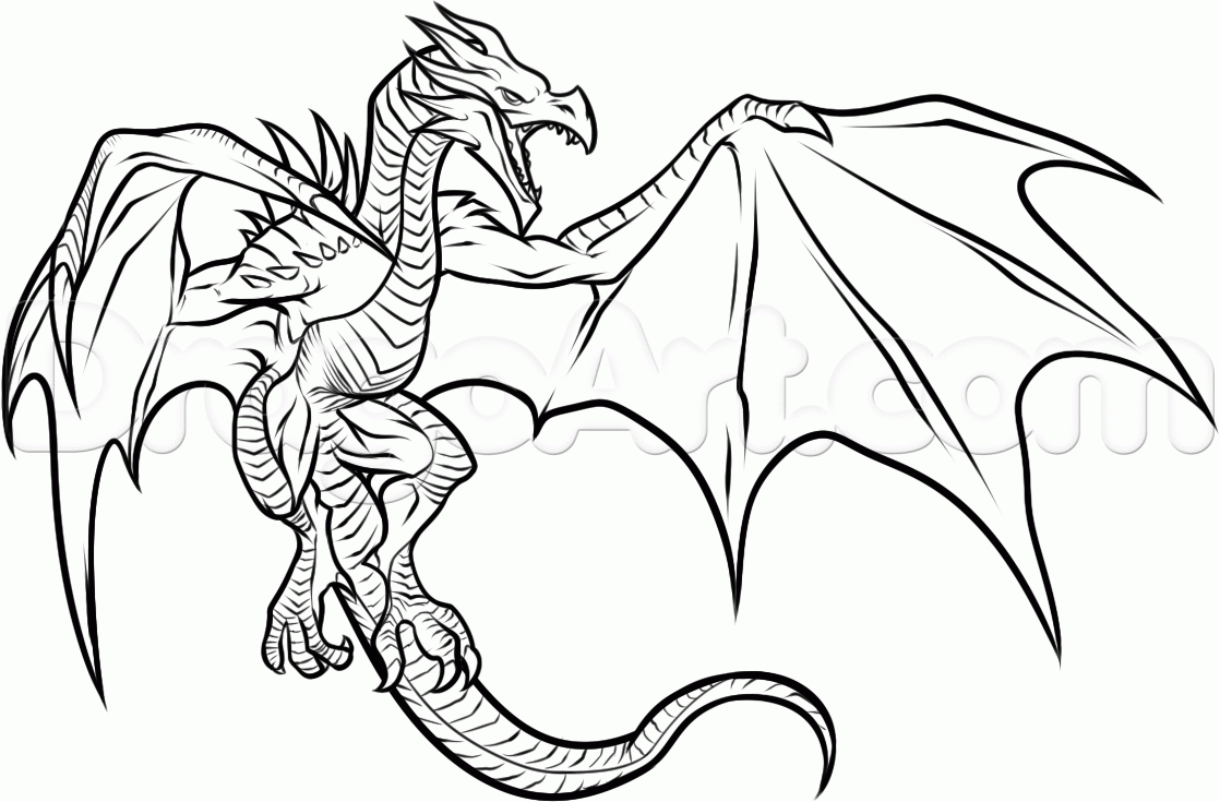 free holiday coloring pages - free printable dragon coloring pages pictures