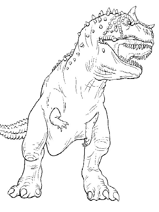 free lego coloring pages - carnotaurus coloring pages
