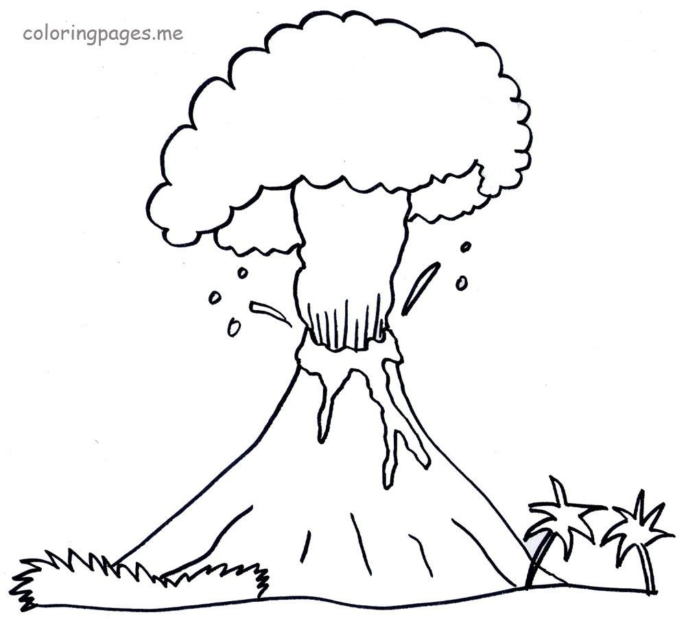 free lego coloring pages - printable volcano coloring pages