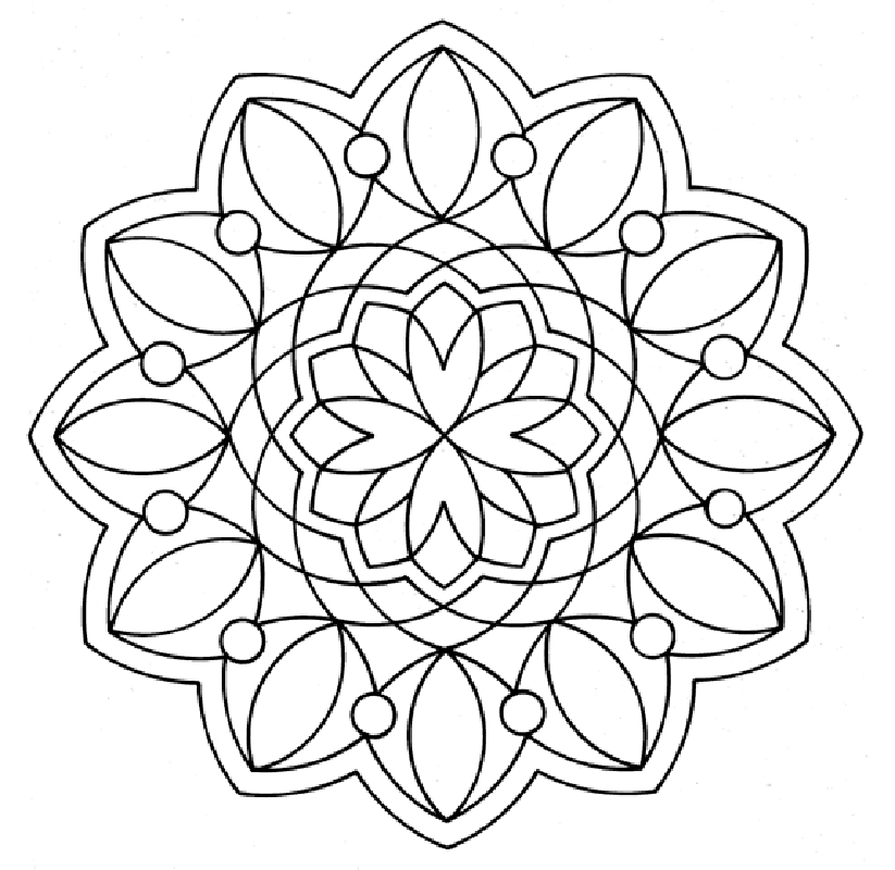 free mandala coloring pages - christmas mandala coloring pages