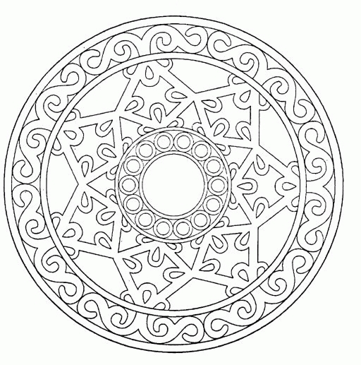 free mandala coloring pages - mandala coloring pages
