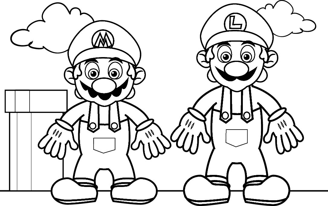 free mario coloring pages - 9 free mario bros coloring pages for