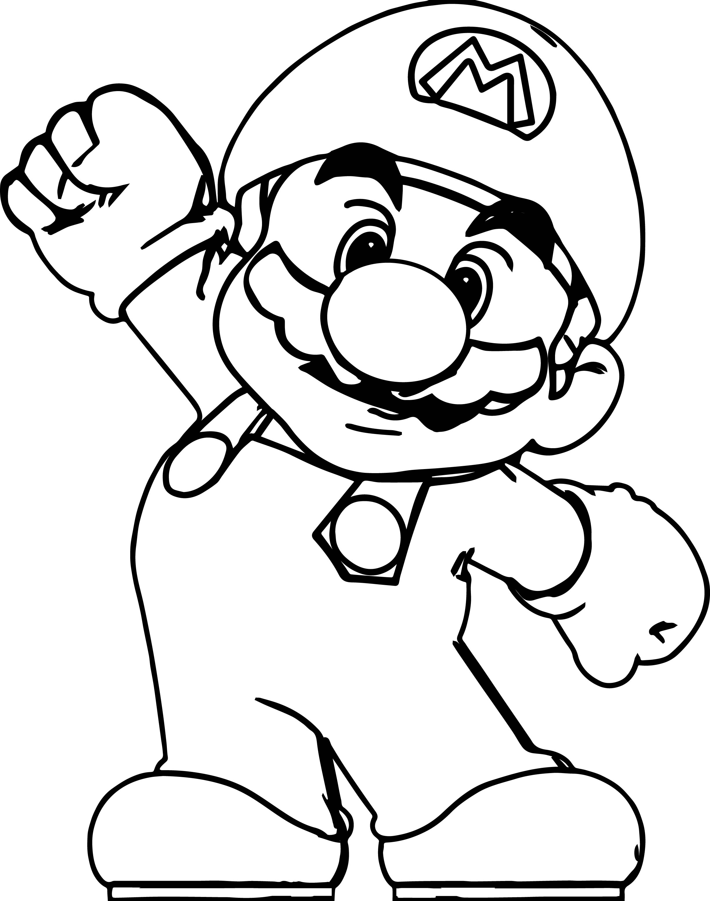 free mario coloring pages - paper mario