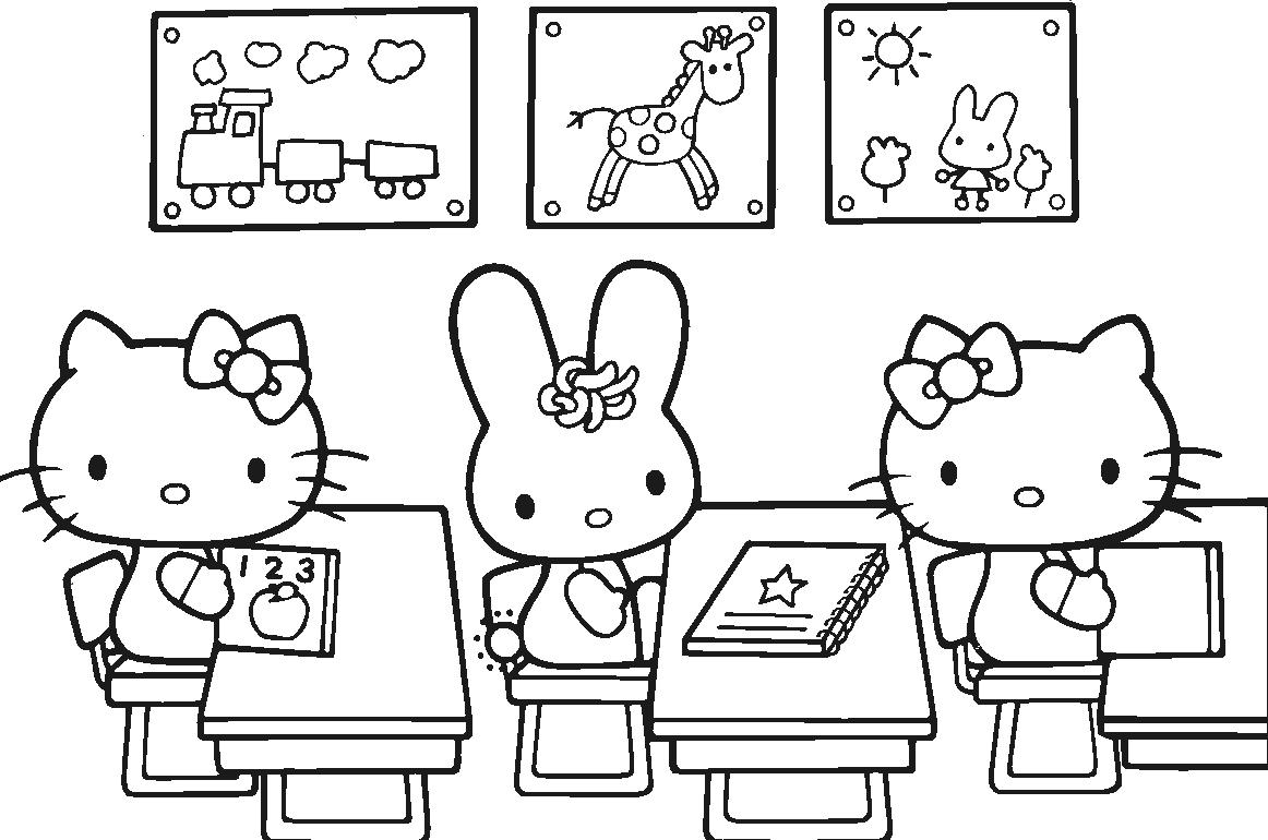 free mermaid coloring pages - 20 free printable hello kitty coloring