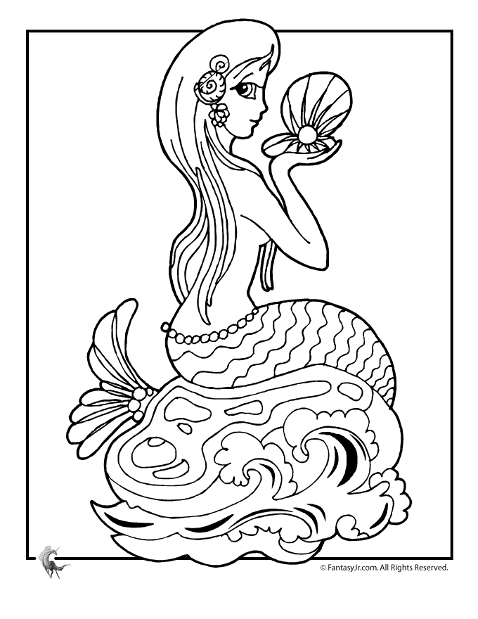 free mermaid coloring pages - barbie in mermaid tale coloring pages