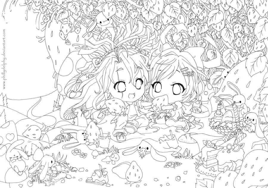 free mermaid coloring pages - Color me Strawberry Fields lineart