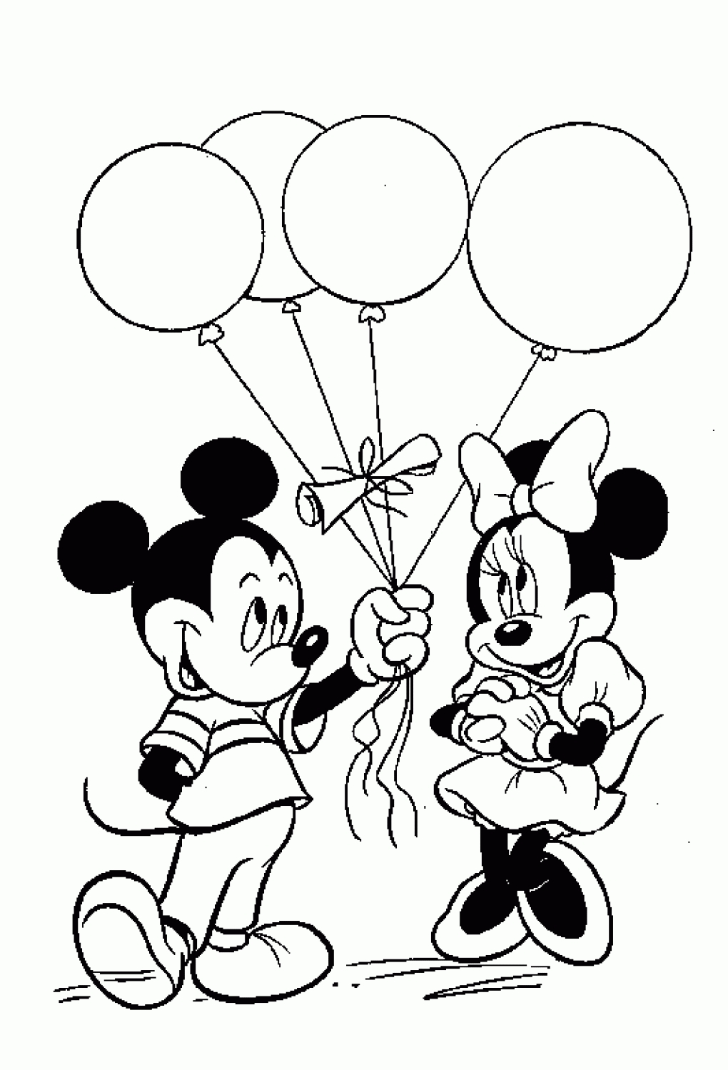 free mickey mouse coloring pages -