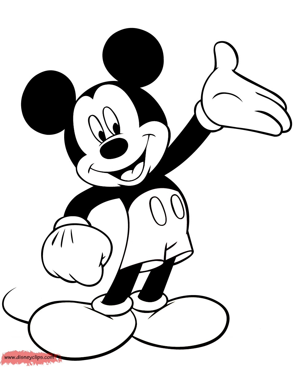 free mickey mouse coloring pages - mickeycolor8