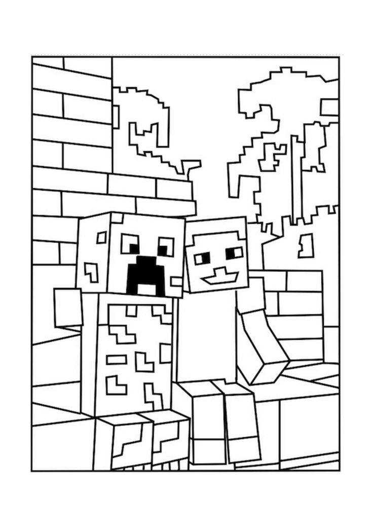 free minecraft coloring pages -