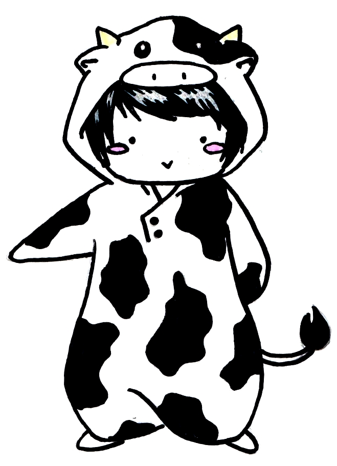 free minecraft coloring pages - ew Cow Chibi