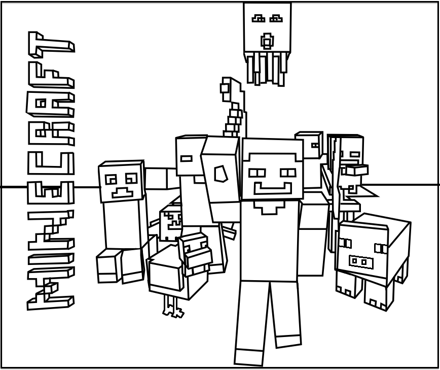 free minecraft coloring pages - 11
