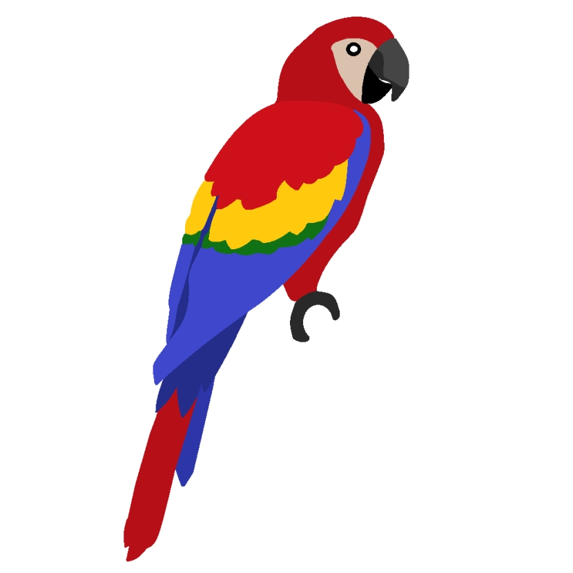 free minecraft coloring pages - parrot clip art