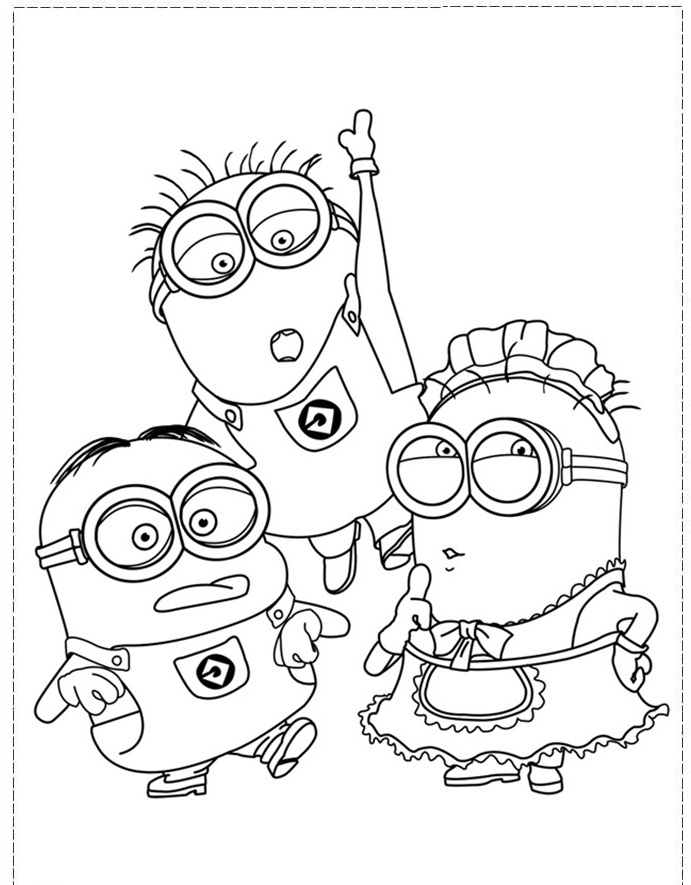 free minion coloring pages - cartoon character boys