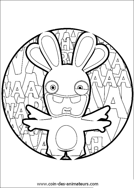 free minion coloring pages - coloriages lapins cretins