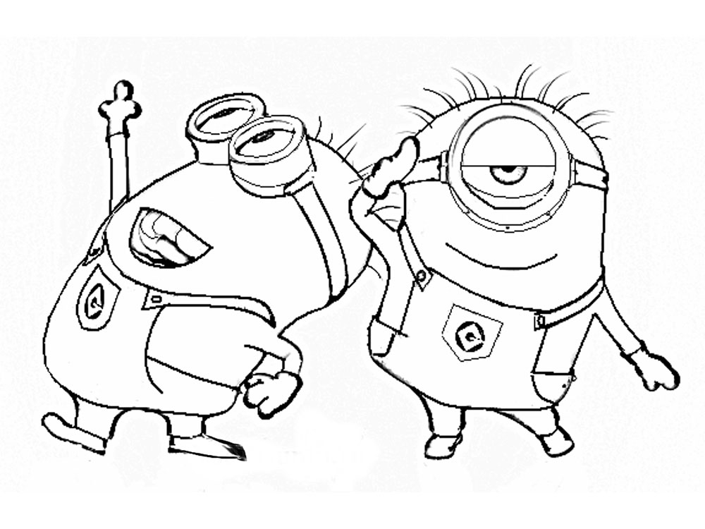 free minion coloring pages - raskraski minony