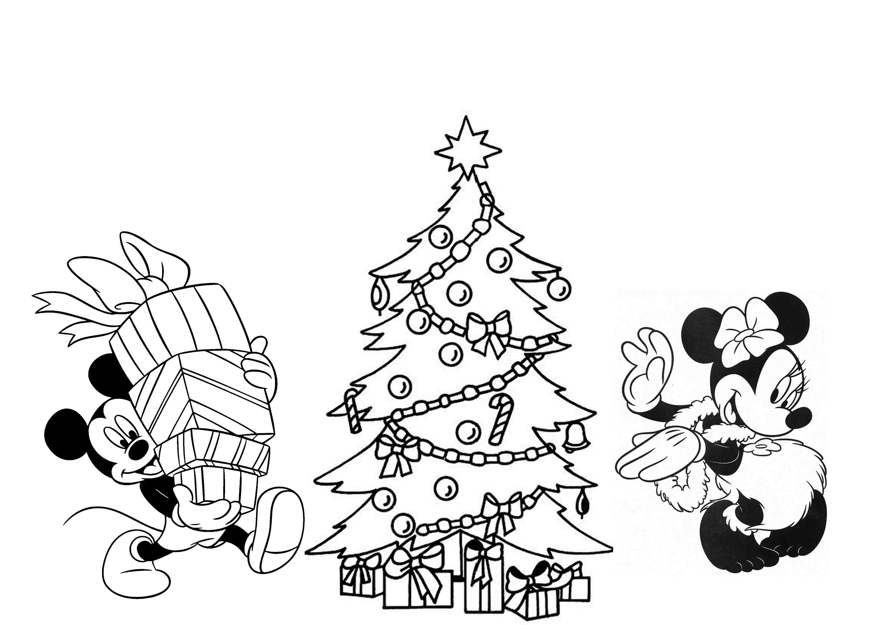 free minnie mouse coloring pages - cartoon celebrations disney christmas coloring pages