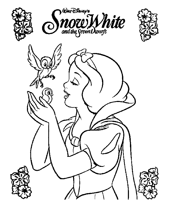 free minnie mouse coloring pages - snow white coloring pages